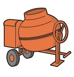 concrete mixer vector image