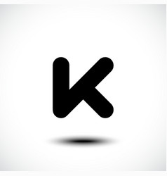 Letter K logo icon vector image