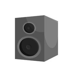 Music speacker icon black monochrome style vector image vector image