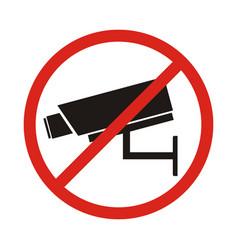 no security camera sign vector image vector image