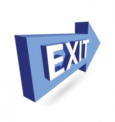3d exit and arrow vector image