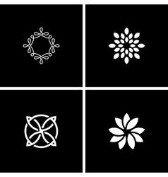 abstract design flowers vector image