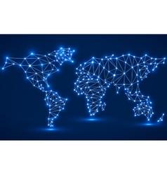Abstract polygonal world map vector image