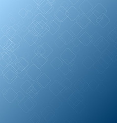 Abstract square shape on blue background vector image