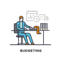 accountant is the budget of construction vector image
