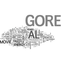 Al gore s inconvenient infomercial a movie review vector