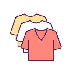 Apparel rgb color icon vector