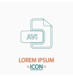 AVI computer symbol vector