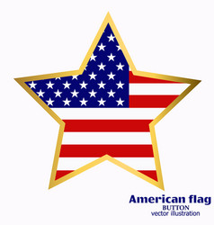 banner with flag of usa vector image