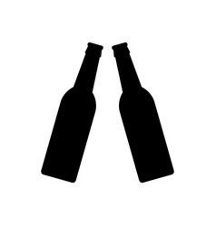 beer bottles icon vector image