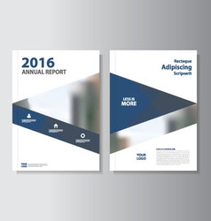 Blue annual report Leaflet Brochure Flyer t vector