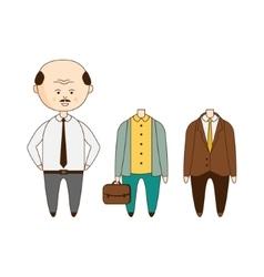 Bold Man Wardrobe Set vector image
