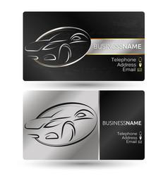 Business card for car company vector