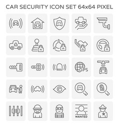 Car security icon vector