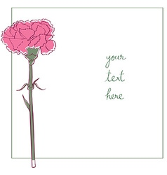 Carnation minimal card vector