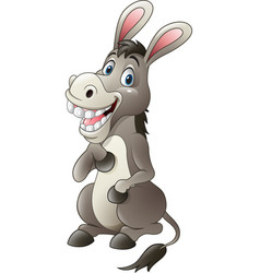 cartoon funny donkey sitting vector image