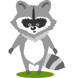Character cute racoon vector