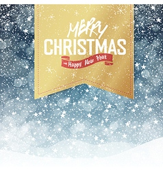 christmas falling snow card vector image