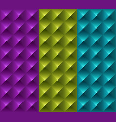 colorful geometric 3d patterns vector image