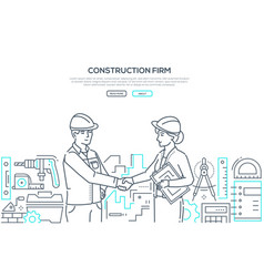 construction firm - modern line design style vector image