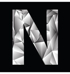 Crystal letter N vector