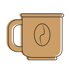 Cup coffee bean icon image vector