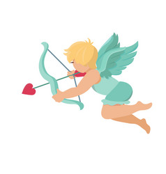 cupid amur baby angel vector image