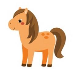 cute horse cartoon farm animal isolated on white vector image