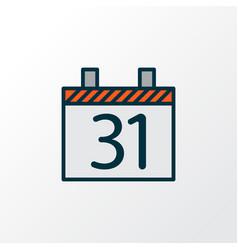 day 31 icon colored line symbol premium quality vector image