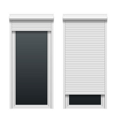 Door with roller shutters vector image