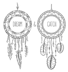 Dream catchers Native american traditional symbol vector image