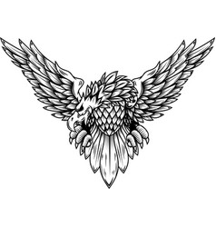 eagle isolated on white background design element vector image