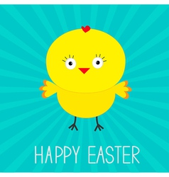 Easter chicken Sunburst Card vector