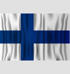 finnish realistic flag finland independence vector image