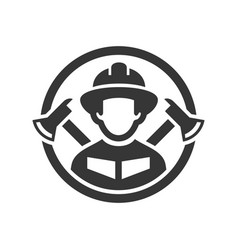 Firefighter logo icon on white background vector