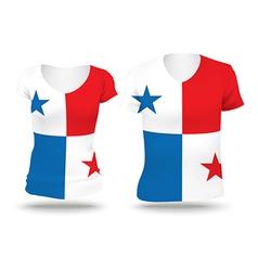 Flag shirt design of Panama vector