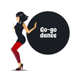 go-go dancer in cartoon style vector image