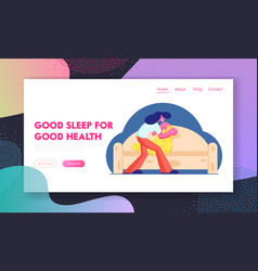good night and sleep website landing page young vector image