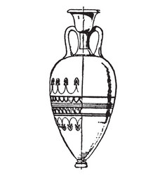 Greek vase is a tall wine jar with two or three vector