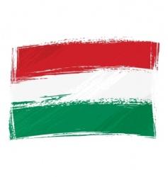 grunge Hungary flag vector image