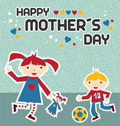 Happy Mothers Day celebration vector image