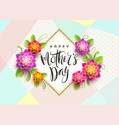Happy mothers day - greeting card vector