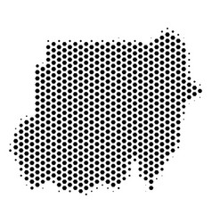 Hex tile sudan map vector