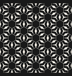 hexagonal seamless pattern triangles lines vector image
