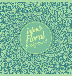Infinite floral background elegant vector