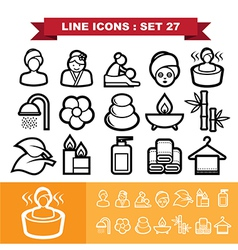 Line icons set 27 vector