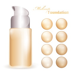 Makeup foundation vector
