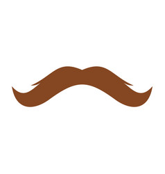 man mustache icon flat style vector image