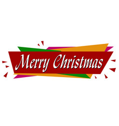 merry christmas banner design vector image