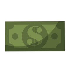 Money bill isolated vector